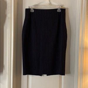 Express Navy Pencil Skirt